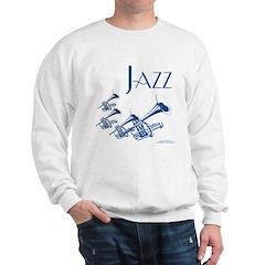 Jazz Trumpet Blue Sweatshirt