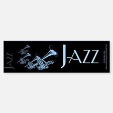 Jazz Trumpet Blue Bumper Bumper Bumper Sticker