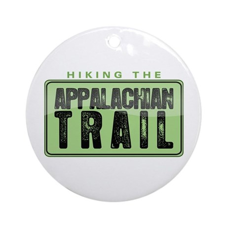 Hiking the Appalachian Trail Round Ornament
