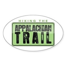 Hiking the Appalachian Trail Oval Decal