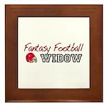 Fantasy Football Widow Framed Tile
