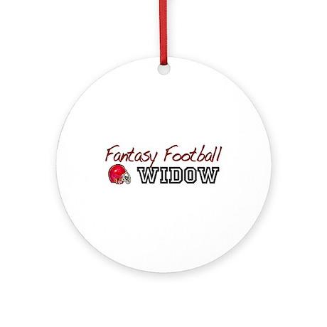 Fantasy Football Widow Ornament (Round)