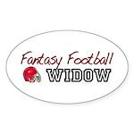 Fantasy Football Widow Oval Sticker (10 pk)