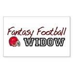 Fantasy Football Widow Rectangle Sticker