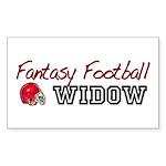 Fantasy Football Widow Rectangle Sticker 10 pk)