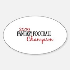2009 Fantasy Football Champ Oval Decal