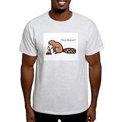 Nice Beaver! Ash Grey T-Shirt
