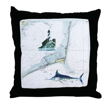 Hatteras Chart Throw Pillow by trixiecafe