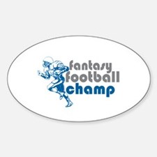 Fantasy Football Champ Oval Decal