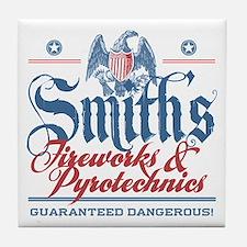 Smith's Fake Fireworks Company Tile Coaster