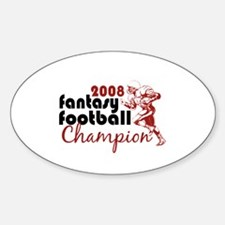 Fantasy Football Champ 2008 Oval Decal