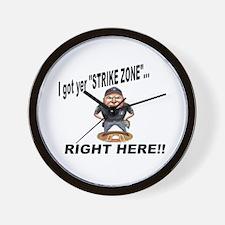 I got yer STRIKE ZONE... Wall Clock