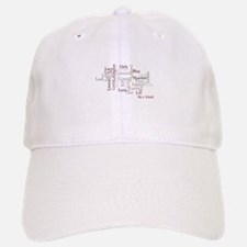 Season 4 Word Cloud Baseball Baseball Cap