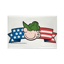 Star-Spangled Beetle Banner Rectangle Magnet