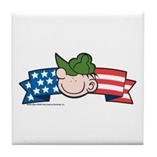 Star-Spangled Beetle Banner Tile Coaster