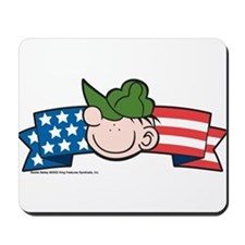 Star-Spangled Beetle Banner Mousepad