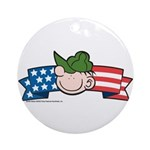 Star-Spangled Beetle Banner Ornament (Round)