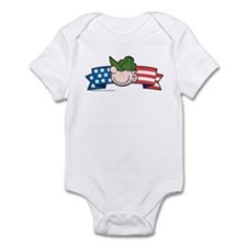 Star-Spangled Beetle Banner Infant Bodysuit