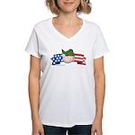 Star-Spangled Beetle Banner Women's V-Neck T-Shirt