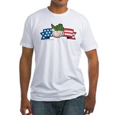 Star-Spangled Beetle Banner Fitted T-Shirt