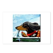 Dachshund Takes the Wheel Postcards (Package of 8)