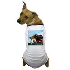 Dachshund Takes the Wheel Dog T-Shirt