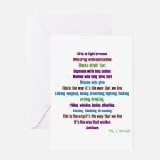 L Word Theme Lyrics Greeting Card