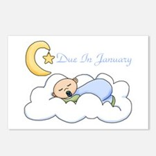 Due In January (Boy) Postcards (Package of 8)