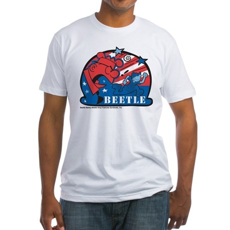 Angry Sarge Red, White, and B Fitted T-Shirt