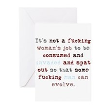 A Woman's Job (Color) Greeting Cards (Pk of 20)