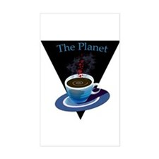 The Planet Coffee House Rectangle Stickers