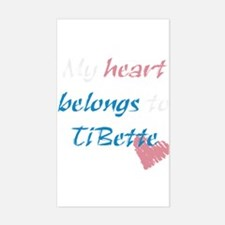 TiBette Rectangle Decal