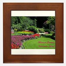 Flowers 2 BG, VI Framed Tile