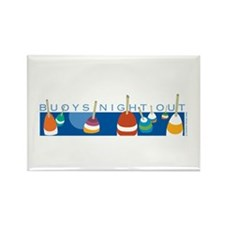 Buoys Night Out Rectangle Magnet