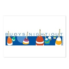 Buoys Night Out Postcards (Package of 8)