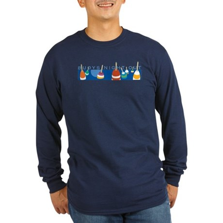 Buoys Night Out Long Sleeve Dark T-Shirt