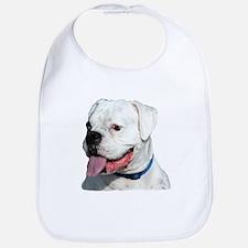 White Boxer Dog Bib