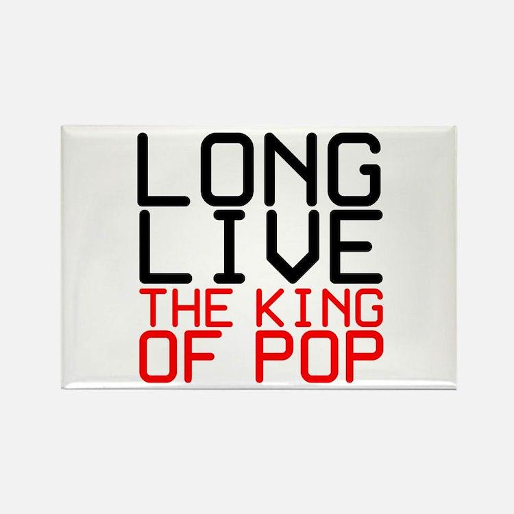 King of Pop Rectangle Magnet