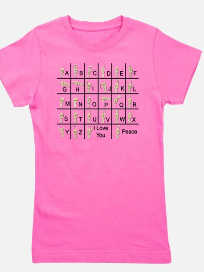 Ameslan Alphabe T-Shirt