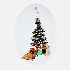 Cairn Christmas Oval Ornament