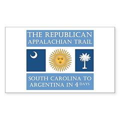 Appalachian Argentina Rectangle Sticker 10 pk)