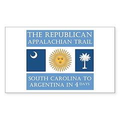 Appalachian Argentina Rectangle Decal