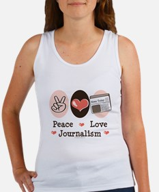 Peace Love Journalism Women's Tank Top