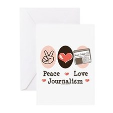 Peace Love Journalism Greeting Cards (Pk of 10)
