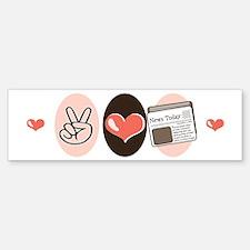 Peace Love Journalism Bumper Bumper Bumper Sticker