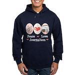 Peace Love Journalism Hoodie (dark)