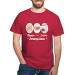Peace Love Journalism Dark T-Shirt