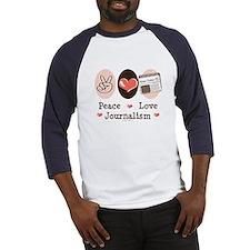 Peace Love Journalism Baseball Jersey
