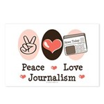 Peace Love Journalism Postcards (Package of 8)