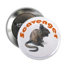 """2.25"""" Button 'Scavenger' (Chubby mouse eating"""